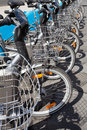 Free Bikes For Rent In The City Stock Images - 20647994
