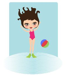 Free Girl Jumping Into Water Stock Image - 20640001