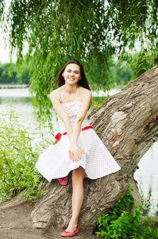 Free Portrait Of A Smiling Young Female Model Posing Stock Images - 20640244