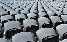 Free A Rows Black Seats Stock Photo - 20640260