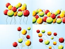 Free Set Of Party Balloons Royalty Free Stock Images - 20640559