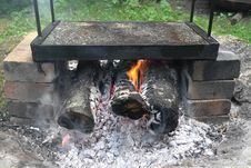 Free Grilling On Stone Stock Images - 20641044