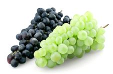 Free Bunches Of Black And Green Grapes Royalty Free Stock Photos - 20641118