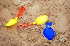 Free Sand Toys In Seabeach Royalty Free Stock Image - 20641636