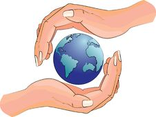 Planet In The Hands Of A Man Royalty Free Stock Photos