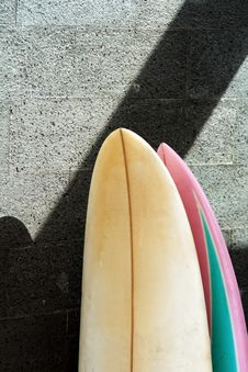 Free Surfboard On The Wall Stock Images - 20642474