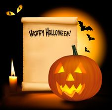 Free Halloween Background With Old Paper Royalty Free Stock Photo - 20642485