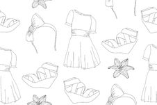Free Hand Drawn Cute Fashion Seamless Pattern Stock Photos - 20642573