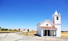 Church In Luz Village, Portugal. Royalty Free Stock Photo