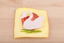Slice Of Garnished Bread Stock Image