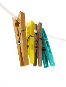 Free Colorful Clothespins Royalty Free Stock Photo - 20642885