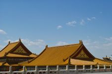 Free Palace In The Forbidden City, Beijing Royalty Free Stock Photography - 20642987