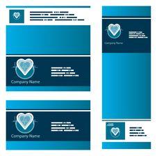 Blue Medical Cardio Business Stock Image