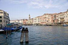 Free Buildings On The Big Canal In Venice Royalty Free Stock Photography - 20643307