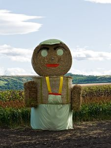 Free Straw Man Staying On The Field Stock Photography - 20643612