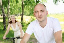 Free Young Man Riding A Bike Stock Photos - 20643703