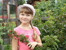 Free Girl Gardening In The Summer Stock Photo - 20643770