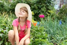 Free Girl Gardening In The Summer Stock Photography - 20643782