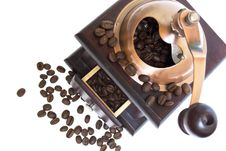 Free Coffee Grinder With Coffee Beans Stock Image - 20643851