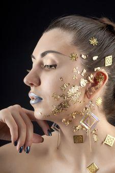 Free Close-up Portrait Of Beautiful Brunette Stock Photography - 20643912