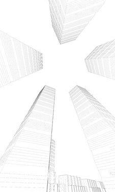 Skyscrapers From Below Stock Images
