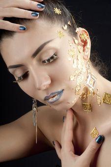 Free Close-up Portrait Of Beautiful Brunette Stock Photography - 20644162