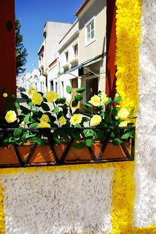 Free Flowery Streets, Redondo Village, Portugal. Stock Photos - 20644293