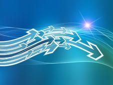 Free Arrow Wave Stock Photography - 20644482