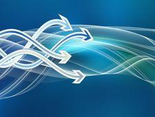 Free Arrow Wave Stock Image - 20644521