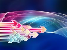 Free Arrow Wave Stock Images - 20644574