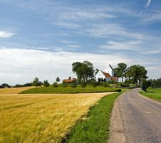 Free Landscape With Typical Church On Funen Stock Photography - 20644662