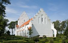 Free Landscape With Typical Church On Funen Stock Photo - 20644690