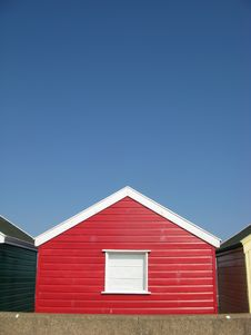 Free Red Beach Hut In Suffolk Royalty Free Stock Photo - 20644815