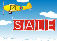 Free Airplane With Banner Stock Images - 20645184