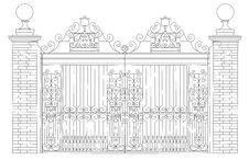 Free Beautiful Ornate Gate Stock Photography - 20645942