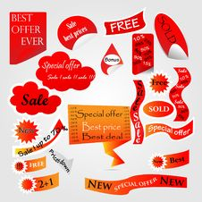Set Of Web Discount Tags Stock Images