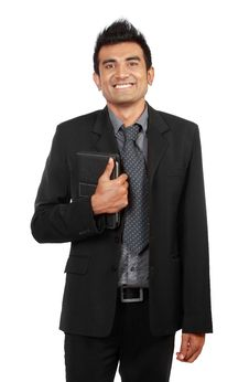 Handsome Smiling Businessman Stock Photos