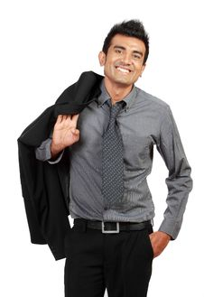 Free Happy Young Businessman Standing Stock Image - 20646621