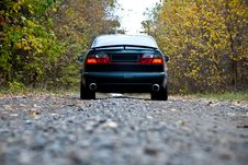 Free Car On Curvy Autumn Forest Road Stock Images - 20646644