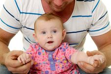 Smiling Father And Baby Royalty Free Stock Photography