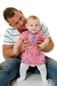 Free Smiling Father And Baby Stock Photography - 20646682