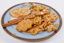 Iced Xmas Gingerbreads Stock Photography
