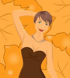 Free Smiling Girl On Autumn Background Royalty Free Stock Image - 20647076