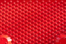 Free Steel Red Dot Pattern Stock Photography - 20647142