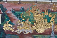 Wall Of Wat Phra Kaew Temple Stock Photos