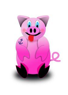 Free Tattooed Pig Stock Image - 20648261