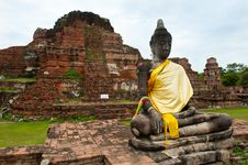 Free Buddha And Ruins Royalty Free Stock Photography - 20648777
