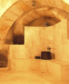 Shower Room Under Arches Royalty Free Stock Image