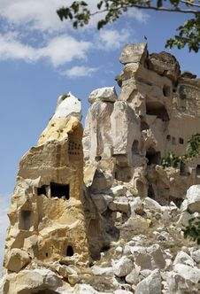 Free Close-up Former Cave Home Edge Of Goreme Turkey Royalty Free Stock Image - 20649336