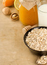 Free Cereals And Healthy Food On Wood Stock Images - 20654664
